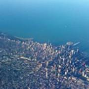 Chicago From Way Up Art Print