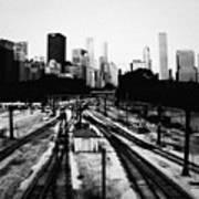 Chicago Grant Park Railroad Skyline Art Print