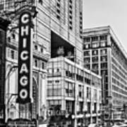 Chicago In Black And White Art Print