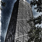 Chicago John Hancock In June Pa 01 Art Print