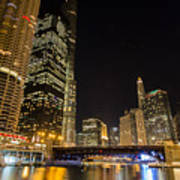 Chicago - Looking East From Dearborn Street Art Print