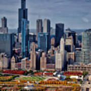 Chicago Looking West 02 Art Print