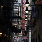 Chicago Loop, Goodman Theater Marguee Art Print