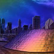 Chicago Millennium Park Bp Bridge Pa 01 Prismatic Art Print