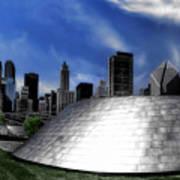 Chicago Millennium Park Bp Bridge Pa 01 Art Print