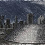 Chicago Millennium Park Bp Bridge Pa 02 Art Print