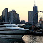 Chicago Navy Pier Art Print