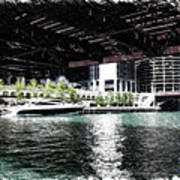 Chicago Parked On The River In June 03 Pa 01 Art Print