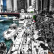 Chicago Parked On The River Walk 03 Sc Art Print