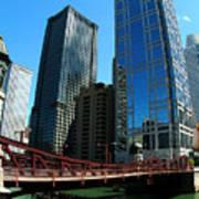 Chicago River - Chicago Boat Tour Art Print