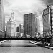 Chicago River Buildings Skyline Art Print by Paul Velgos