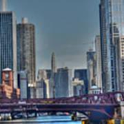 Chicago River East Art Print