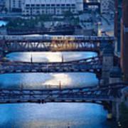 Chicago River First Light Art Print