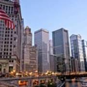 Chicago River From The Michigan Avenue Bridge Art Print