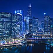 Chicago River Panorama Art Print
