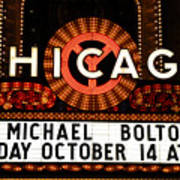Chicago Sign - Chicago Theater Art Print