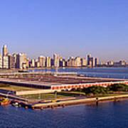 Chicago Skyline, Filtration Plant Art Print