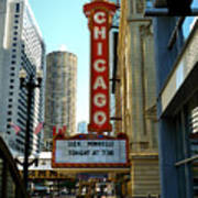 Chicago Theater - 1 Art Print