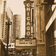 Chicago Theater - 3 Art Print