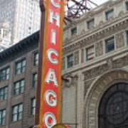 Chicago Theater Sign Art Print