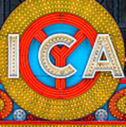 Chicago Theatre Sign V3crop Details Dsc2176 Art Print