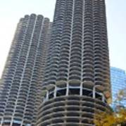Chicago Twin Corn Cob Building  Art Print