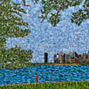 Chicago - View From Lakefront Trail Art Print