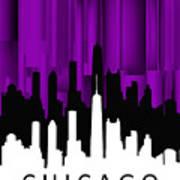 Chicago Violet Vertical  Art Print
