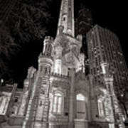 Chicago Water Tower Print by Adam Romanowicz