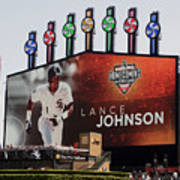Chicago White Sox Lance Johnson Scoreboard Art Print