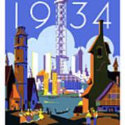Chicago, World Fair, Vintage Travel Poster Art Print