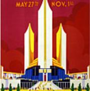 Chicago, World's Fair, Vintage Travel Poster Art Print