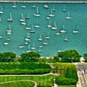 Chicago's Dusable Harbor  Art Print