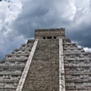 Chichen-itza Pyrmid In Mexico Art Print