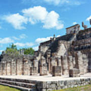 Chichen Itza Temple Of The Warriors Art Print