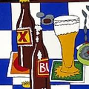 Chichis Y Cervesas Art Print by Rojax Art