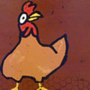 chicken Scratch Art Print
