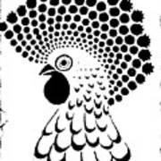Chicken Tattoo  Art Print