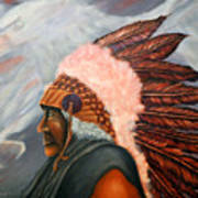 Chief Eagle Cloud Art Print