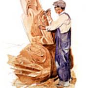 Chief Mungo Martin Totem Carver Art Print