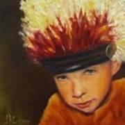 Chief Wannabee #2, Native American Indian Child   Art Print