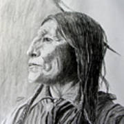 Chief Wolf Robe Art Print