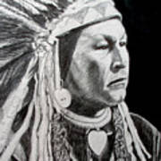 Chief Yellow Wolf Art Print