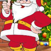 Chiefs Santa Claus Art Print