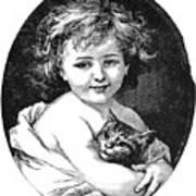 Child & Pet, 19th Century Art Print