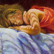 Child Sleeping Print Wall Art Room Decor Art Print