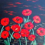 Childlike Poppies Art Print by Alanna Hug-McAnnally
