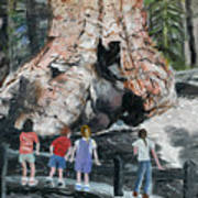 Children At Sequoia National Park Art Print