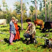 Children Of The Forest Art Print