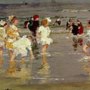 Children On The Beach Art Print by Edward Henry Potthast